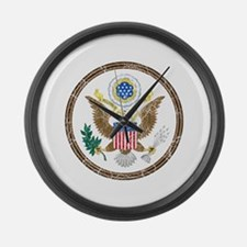 United States Coat Of Arms Large Wall Clock