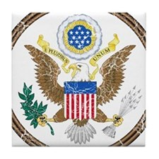 United States Coat Of Arms Tile Coaster