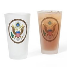 United States Coat Of Arms Drinking Glass