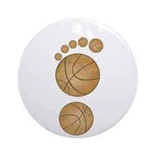 Basketball Footprint Ornament (Round)