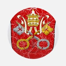 Vatican City Coat Of Arms Ornament (Round)