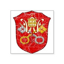 "Vatican City Coat Of Arms Square Sticker 3"" x 3"""