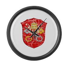 Vatican City Coat Of Arms Large Wall Clock