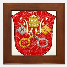 Vatican City Coat Of Arms Framed Tile