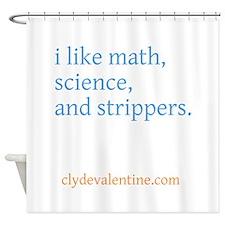 physics dot com Shower Curtain