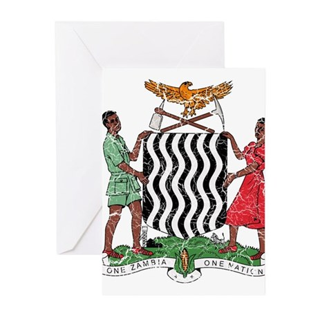 Zambia Coat Of Arms Greeting Cards (Pk of 20)