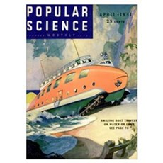 Popular Science Cover, April 1931 Poster