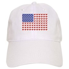 Polar Bear American Flag Baseball Cap