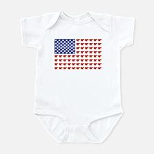 Polar Bear American Flag Infant Bodysuit