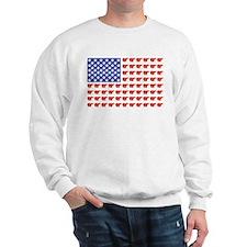 Polar Bear American Flag Sweatshirt