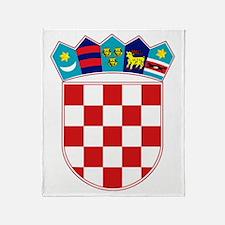 Croatia Hrvatska Emblem Throw Blanket