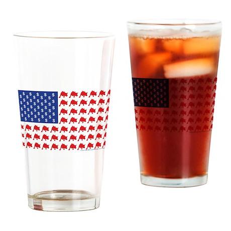 Wall-Street Patroitic USA Drinking Glass