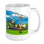 Airforce Pilots and Biplanes Large Mug