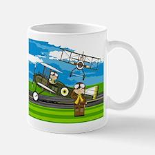 Airforce Pilots and Biplanes Mug