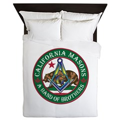 California Freemasons Queen Duvet