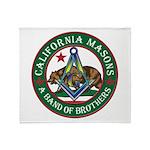 California Freemasons Throw Blanket