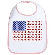 USA Patriotic Dachshund Bib