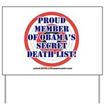 Death List Yard Sign