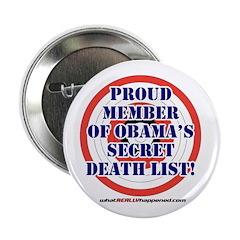 """Death List 2.25"""" Button"""