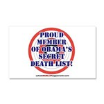 Death List Car Magnet 20 x 12