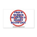 Death List 20x12 Wall Decal