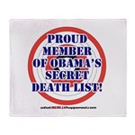 Death List Throw Blanket