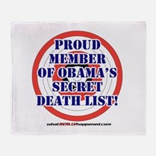 Death List Throw Blanket