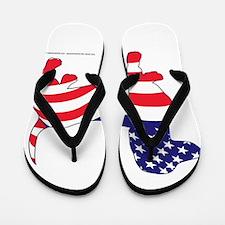 Patriotic Wiener Dachshund Flip Flops