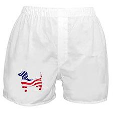 Patriotic Wiener Dachshund Boxer Shorts