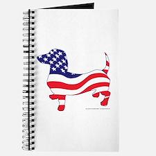 Patriotic Wiener Dachshund Journal