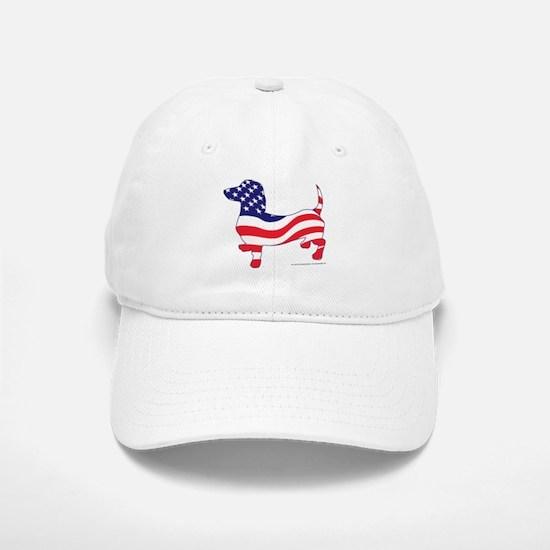 Patriotic Wiener Dachshund Baseball Baseball Cap