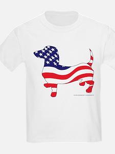 Patriotic Wiener Dachshund T-Shirt
