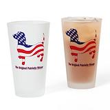 Usa flag Pint Glasses