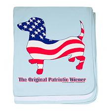 Original Patriotic Wiener Dac baby blanket