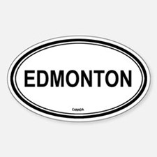 Edmonton, Canada euro Oval Decal