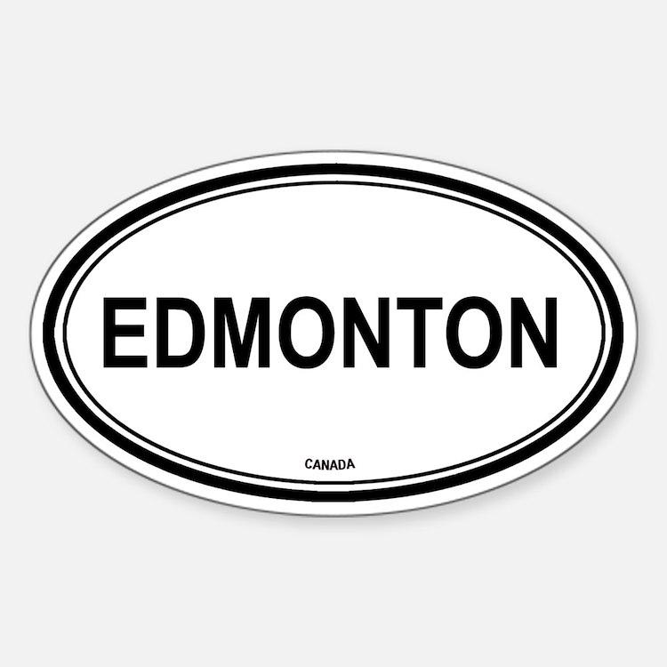 Edmonton, Canada euro Oval Decal