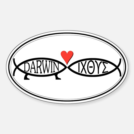 Science & Religion Oval Decal
