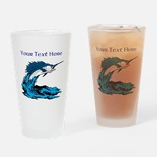 Personalizable Swordfish Design Drinking Glass