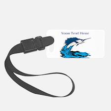 Personalizable Swordfish Design Luggage Tag