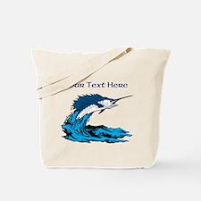 Personalizable Swordfish Design Tote Bag