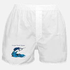Personalizable Swordfish Design Boxer Shorts