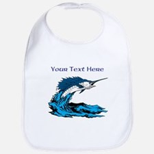 Personalizable Swordfish Design Bib