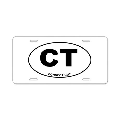 Connecticut State Aluminum License Plate by cafestickers