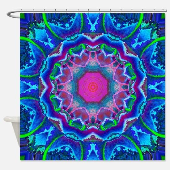 Cyberdelic Kaleidoscope Shower Curtain