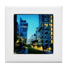 NYC High Line - Twilight Lights Tile Coaster