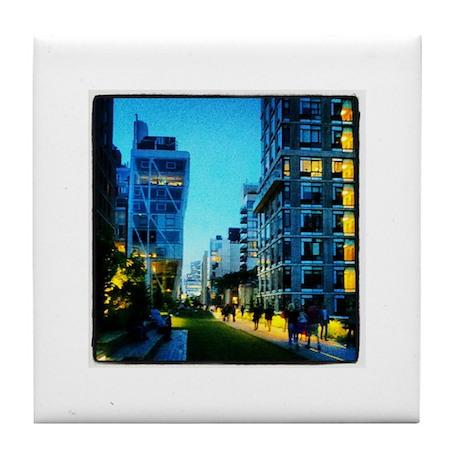 NYC High Line - Twilight Lights Tile Coaster