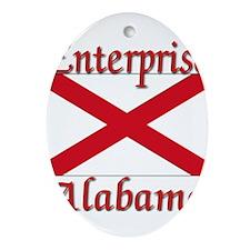 Enterprise Alabama Ornament (Oval)