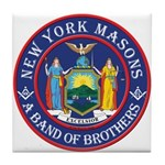 New York Brothers Tile Coaster