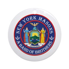 New York Brothers Ornament (Round)