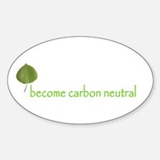 become carbon neutral oval sticker